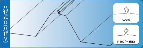 ハゼ式D折板イラスト